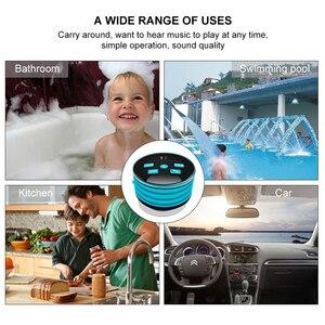 Image 5 - Mini haut parleur étanche sans fil HAAYOT Radio FM Bluetooth 4.2 Microphone intégré haut parleur de douche résistant à leau avec lumière LED