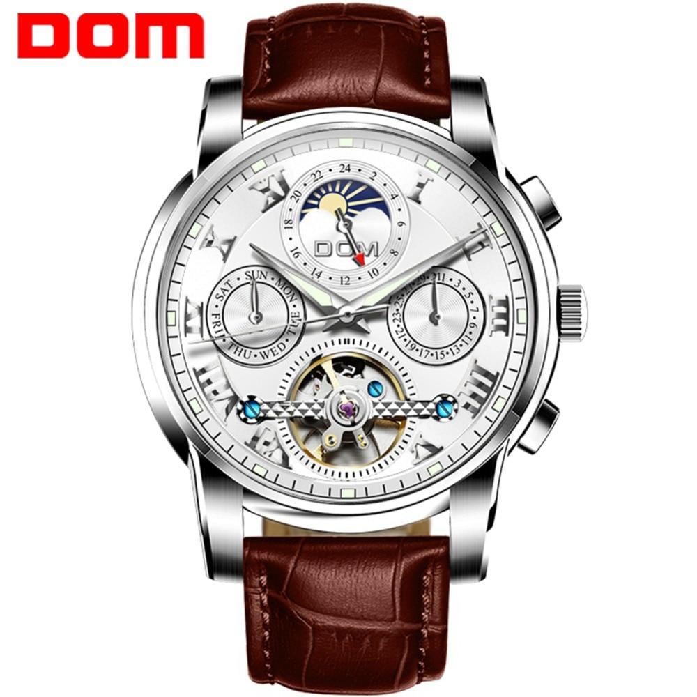 Man Watch DOM Brand Mechanical Watches Sport Waterproof Luxury Fashion Wristwatch Relogio Masculino M 75L 7MH