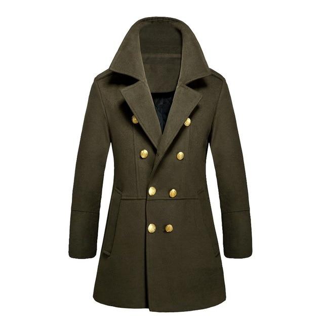 d839ade9fcd8 Michley марка мужской шерсть тренчкот Abrigos де лана хомбре серый плащ  черный длинные гороха пальто манто