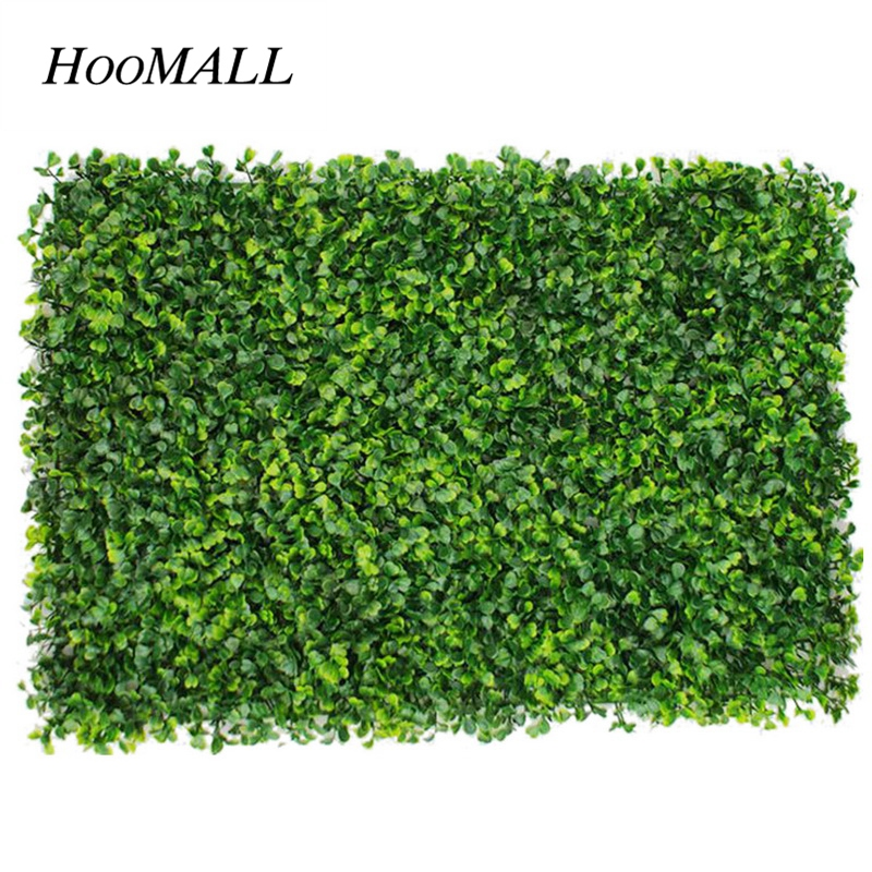 Hoomall 40*60cm Artificial Plant Wall Lawn Plastic Encryption Milan Lawn Eucalyptus Plant Landscape Home Decoration Accessories