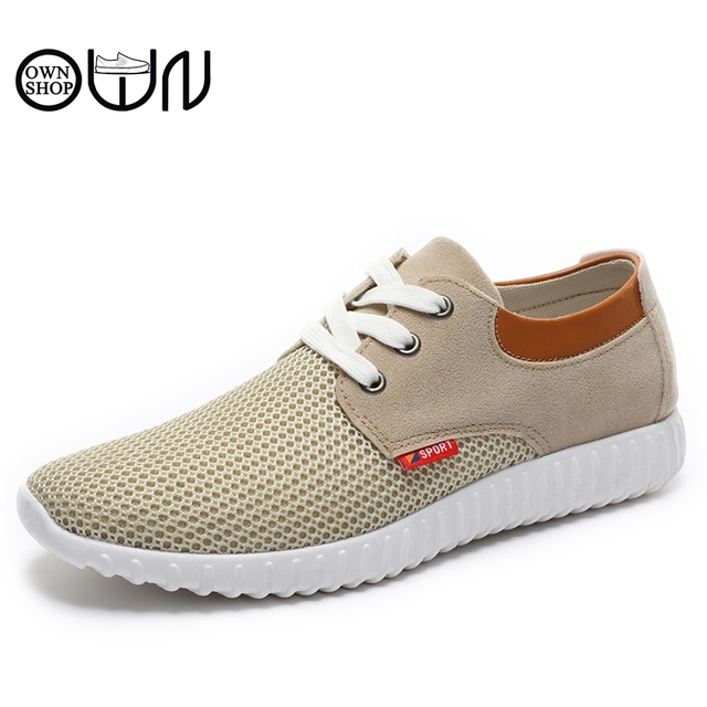 66c03bcc29be summer shoes Men Casual Shoe Fashion Design Mesh Solid Canvas High  Breathable Shoes Rubber Flat With Lace Up Mens Grey Yellow
