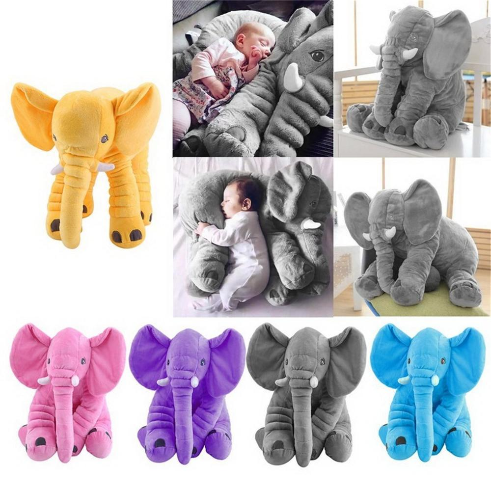 Fashion 28*33cm Elephant Soft Baby Pillow Baby Doll Toys Baby Sleep Bed Car Seat Cushion Kids Portable Bedroom Bedding Pillow