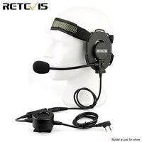 Retevis EH060K Z Tactical Bowman Elite II ชุดหูฟังทหารสำหรับ Kenwood TYT Retevis H777 Baofeng UV5R 888S Walkie talkie