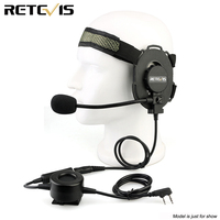 Retevis EH060K Z Tactical Bowman Elite II Headset Military Headset for Kenwood TYT Retevis H777 Baofeng UV5R 888S Walkie Talkie