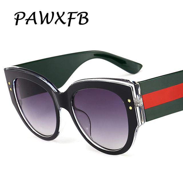 5e26fb5d568 Pop Age 2018 New Luxury Italy Brand Designer Oversized Square Sunglasses  Women Retro Sun Glasses Eyeglasses