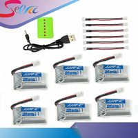 4 5 6pcs 3 7v 150mAh 30C Lipo Battery With X4 X5 X6 Charger For Eachine