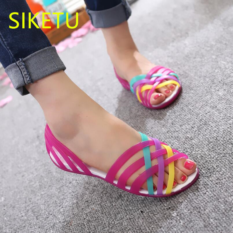 SIKETU Free shipping Summer sandals Fashion casual shoes sex women shoes flip flop Flat shoes Flats l051 Casual Beach Wild free shipping fashion 2018 new summer women shoes casual sandals genuine leather flats sandals beach slippers soft comfortable