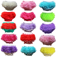 Wennikids Cotton Baby Bloomers Cute Baby Pants Underwear Infant Lace Ruffle Short Diaper Cover Toddler Infant Baby Bloomers
