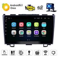 9 Android 8,1 автомобильный Радио мультимедийный плеер для Honda CRV 2007 2011 2 Din Автомобильный gps Навигация стерео Wifi Поддержка DAB с диагностическим раз