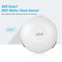 NEO WiFi Wasser/Flut Sensor Smart WIFI Wasser Leckage Detektor App Benachrichtigung Warnt Wasser Sensor Alarm Leck Alarm Hause securit