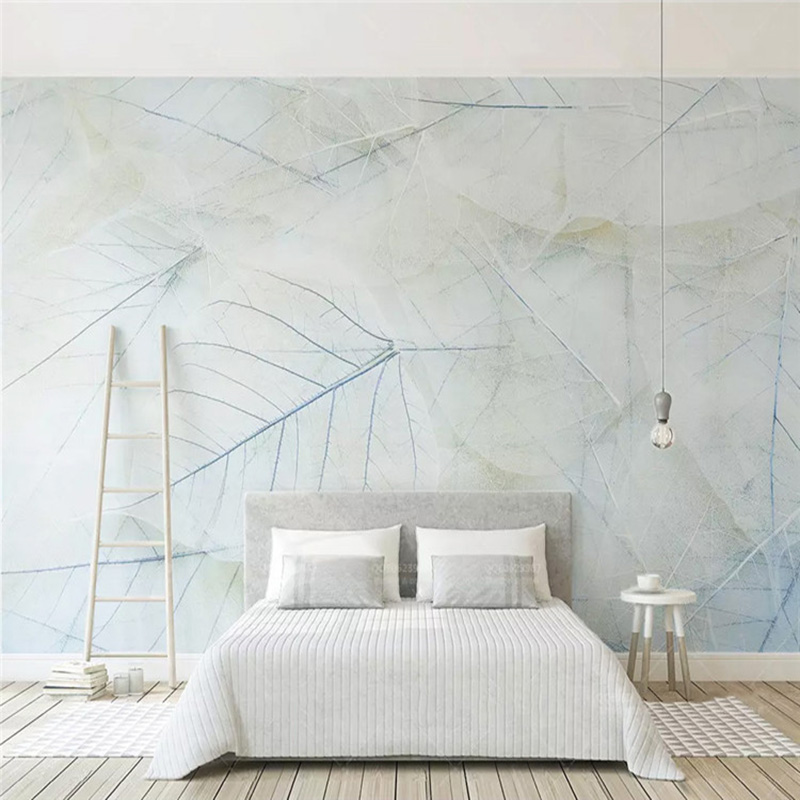 Custom Mural Wallpaper Modern Fashion Leaf Photo Wall Painting Living Room Bedding Room Nordic Simple Background Wall Home Decor