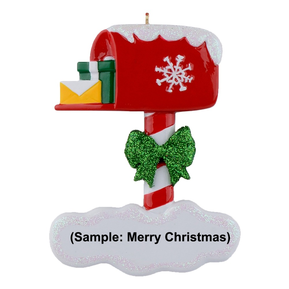 Maxora Mailbox Resin Personalized Christmas Ornaments as Handcraft Ornaments for home holiday gifts in Pendant Drop Ornaments from Home Garden
