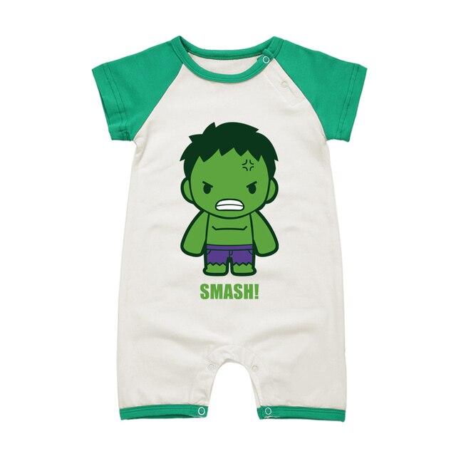 f0ffde002b89 Babies Summer Jumpsuits Short Sleeve Clothing Set for Infant Cartoon Super  Hero 100% Cotton Baby