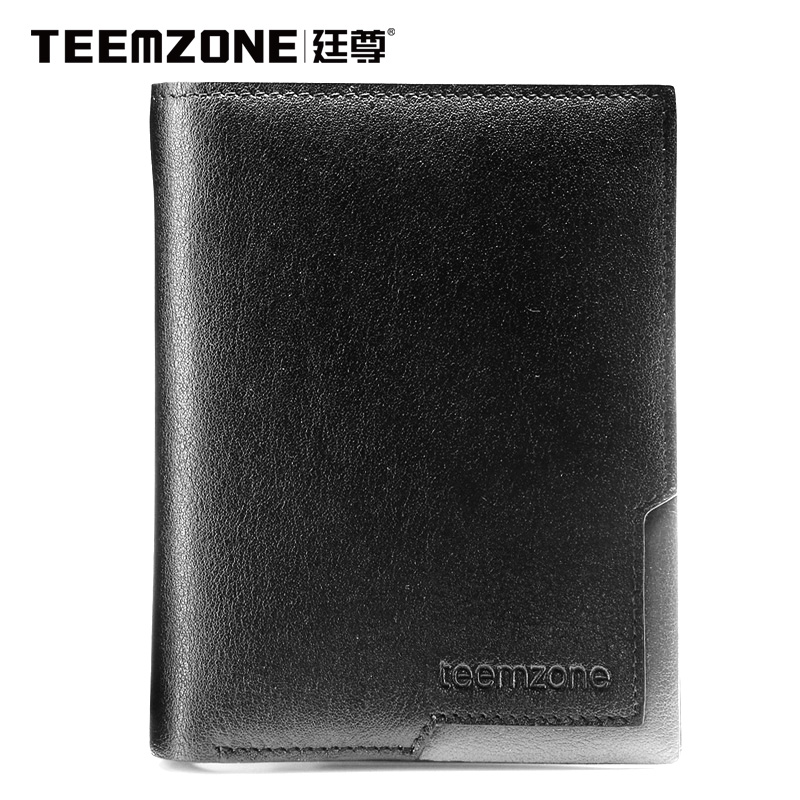 Teemzone Brand Men Wallet Genuine Leather Purse Credit Card Holder Cowhide Credit Card Wallet Men's Wallet Free Shipping hot sale 2015 harrms famous brand men s leather wallet with credit card holder in dollar price and free shipping