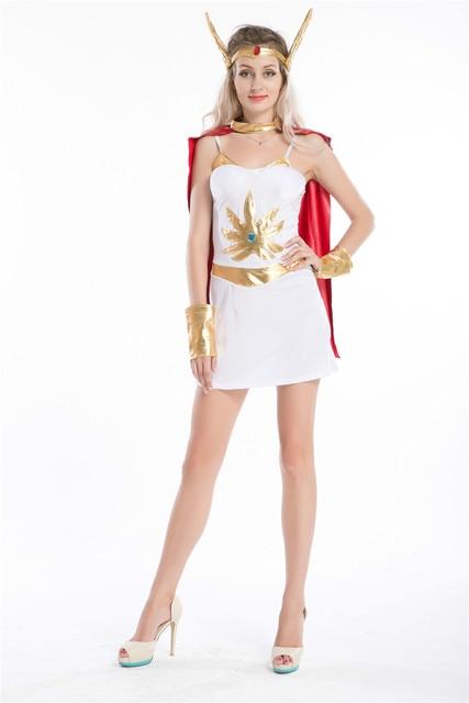 Ladies She Ra Costume Deluxe 80u0027s Superhero Shera Fancy Dress ALL SIZES  sc 1 st  AliExpress.com & Ladies She Ra Costume Deluxe 80u0027s Superhero Shera Fancy Dress ALL ...