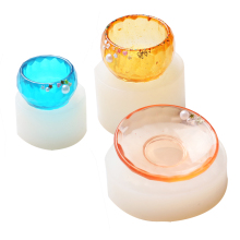3pcs/set Epoxy Resin Molds Small Dish Big Bowl Silicone Molds Jewelry Mold Making Tools