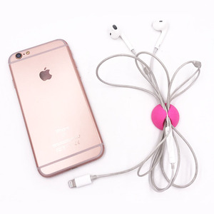 Image 3 - Round Cable Holder Protector Management Device Organizer Finishing Desktop Plug Silicone Wire Retention Clips Power Cord Winder