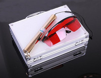 NEUE Starke leistung militär blaue laser-pointer 200000 mw 450nm brennendes streichholz/trockenes holz/kerze/zigarette + 5 kappe + glasses + ladegerät + box