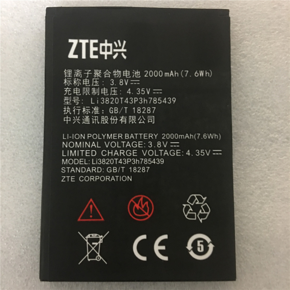 New Original Mobile Phone Battery ZTE Blade L3 Li3820T43P3h785439 3.8V 2000mAh For ZTE Blade L3 Battery