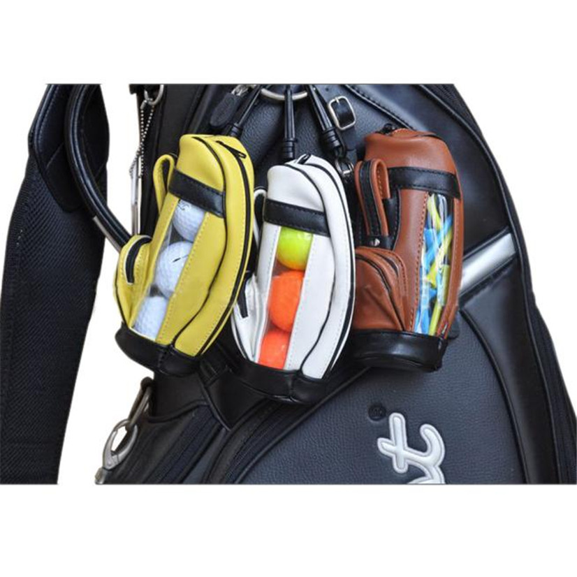 6943798ae5e1 Pu Leather Mini Golf Pouch Multifunctional Bag Accessories