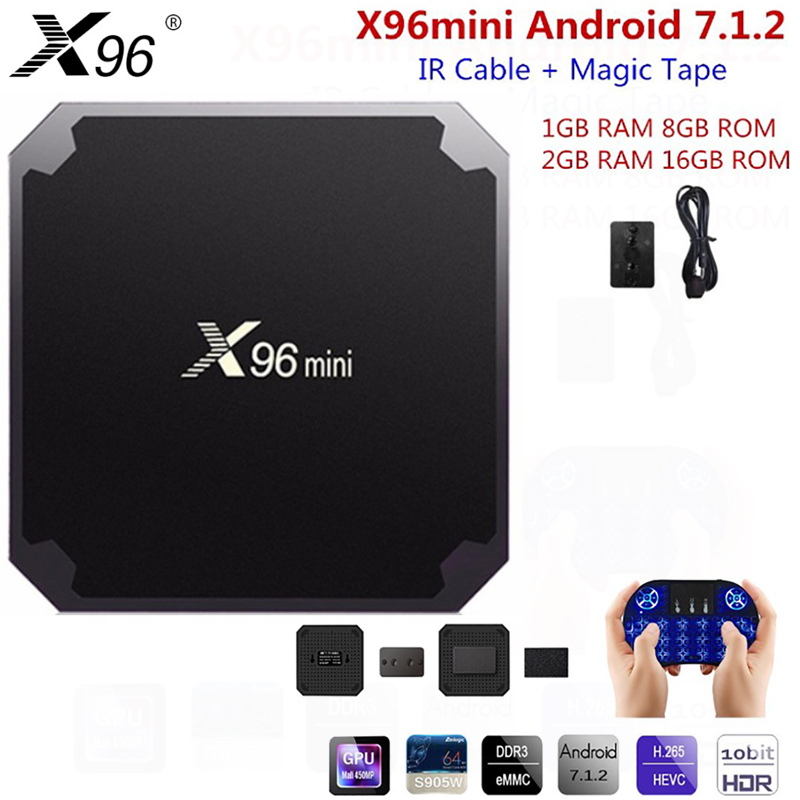 X96 Mini TV BOX Smart Android 7.1 Amlogic S905W Quad Core 4K 2.4G WiFi HDMI Set-Top Box Media Player Add IR Cable PK X92 H96 Pro 2018 lastest himedia h8 pro 2gb 16gb octa core uhd smart android tv box wifi 3d 4k media player pk mi box 3 x96 mini h96 pro x92