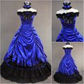 Royal Victorian Dress Lace-Up Vintage Gothic  Long Costume Play  Dress