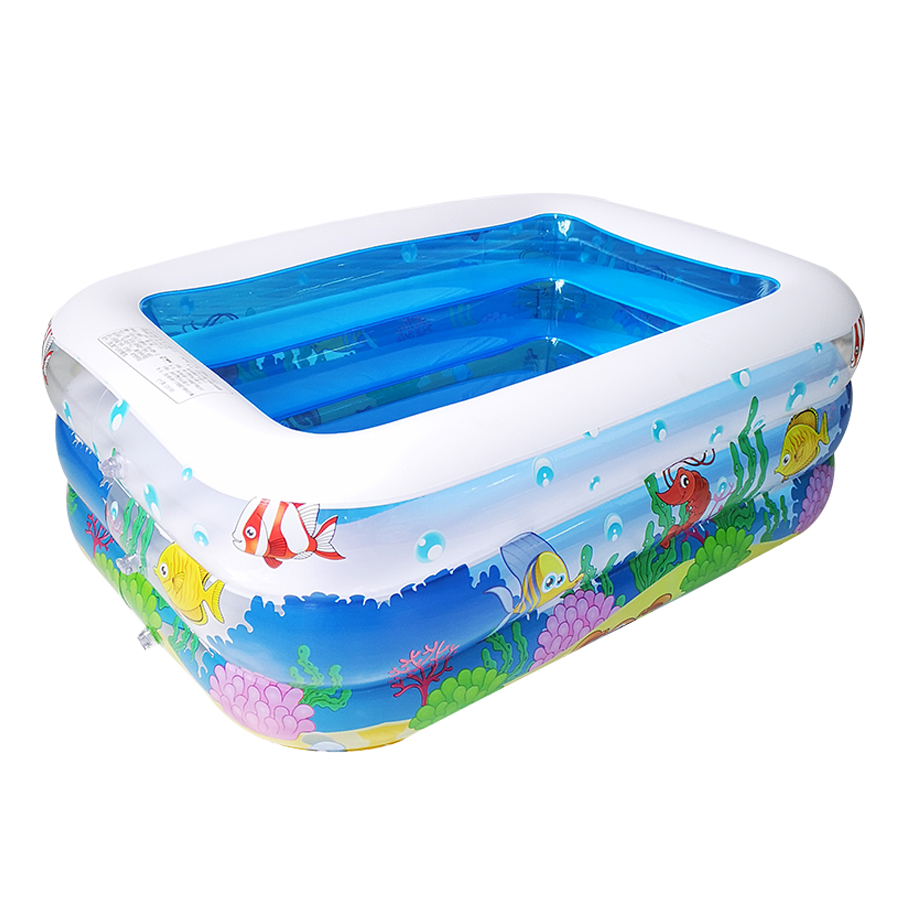 Plastic Rectangular Inflatable Bottom Children's Inflatable Pool Tub Insulation Children's Play Pool Ball Pool
