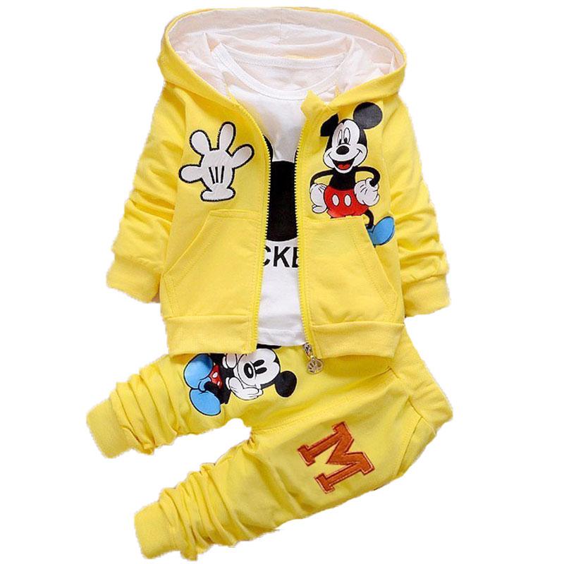 Children-Kids-Cartoon-Donald-Duck-Minnie--Clothes-Suits-Baby-Boys-Girls-Hooded-Jacket-T-Shirt (1)