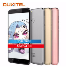 "Oukitel u20 plus 4g huella digital 5.5 ""fhd 1080*1920 teléfono inteligente android 6.0 1.5 ghz mtk6737t quad core 2 gb + 16 gb 13mp teléfono móvil"