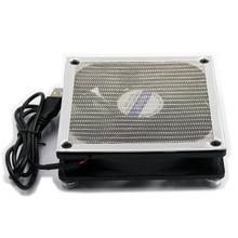 USB12cm Серебряная/черная металлическая пыль-защита охлаждающий вентилятор, 12*2,5 см DC 5 V периферийное устройство компьютера охлаждающий вентилятор, маршрутизатор, ТВ приставка coole