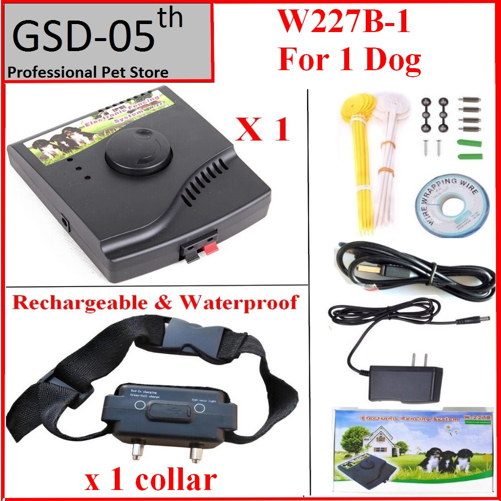 1dog Underground Waterproof Rechargeable Pet Electric fence Shock Collar Electric Dog Pet Training Fence Fencing Dog