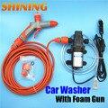 De alta pressão da de casa portátil máquina de lavar carro 12 V 60 W Watts de espuma de lavagem de carro pistola de água máquina de
