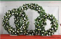Wedding props iron ring frame Mori background decoration arch lawn wedding wreath stage decoration ornaments.