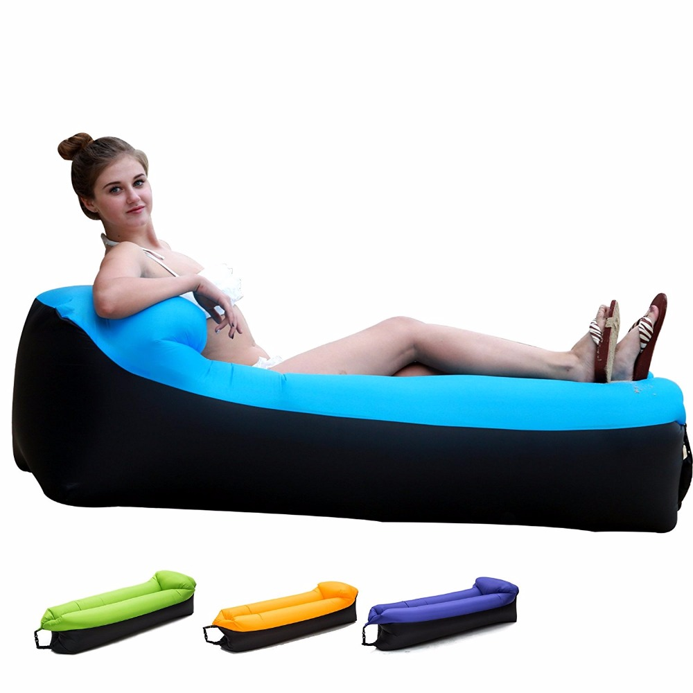 Inflatable furniture for adults - 2017 Update Best Quality Laybag Lazy Beach Bed Air Sofa Lounge Camping Of Sleeping Air Lounger