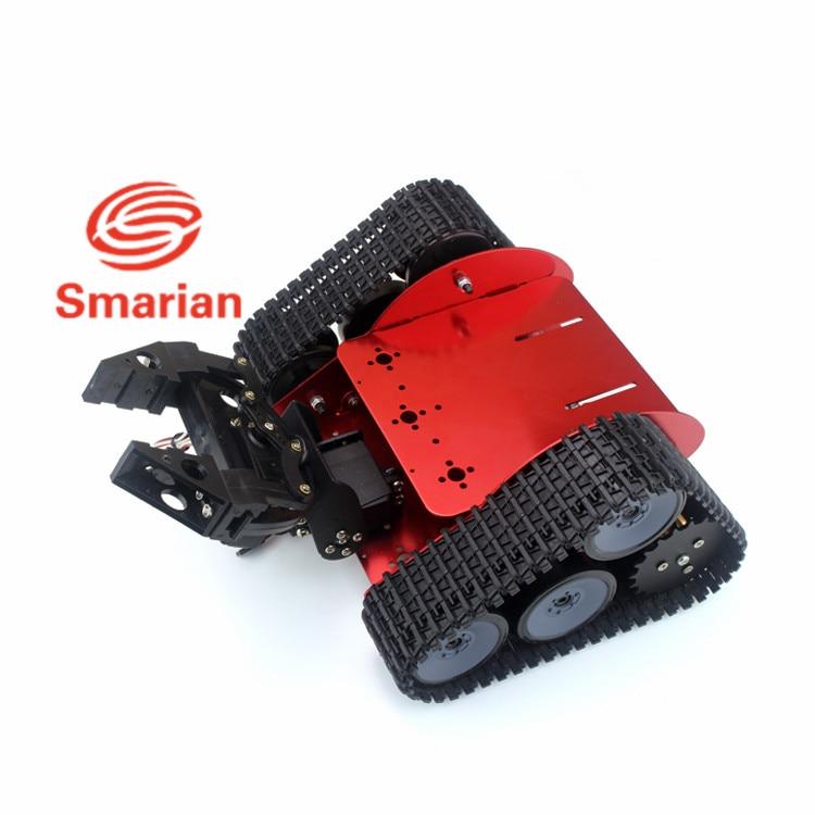 Arduino robot full set of Triangular Tracked handling robot full set tracked robot 2 DOF manipulator gripper