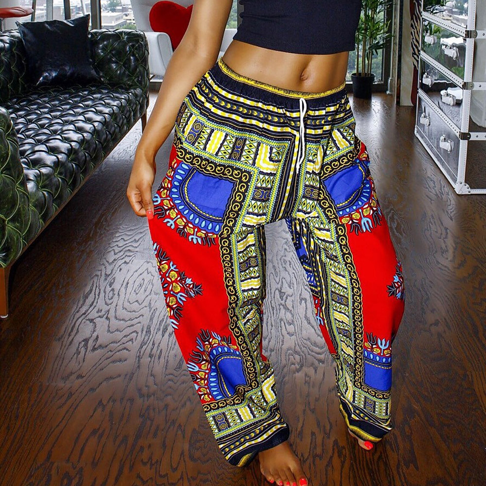 2016 Dashiki Women's Yoga Pants New Brand Fitness Sports Style For Female Leggings Plus Size Dance Bloomers YK00