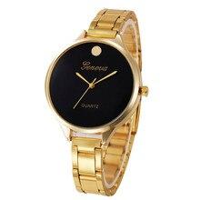 2017 Fashion Ladies Watch Stainless Steel Crystal Diamond WristWatch Women Luxury Quartz Dail-Watch Gold Bracelet Watches