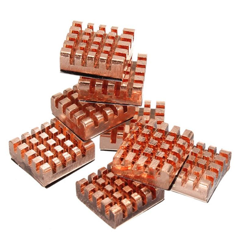8pcs/Set Cooling Fan Copper Heatsink Cooler For VGA GPU DDR DDR2 DDR3 RAM Memory IC Chipset Cooling Wholesale Price