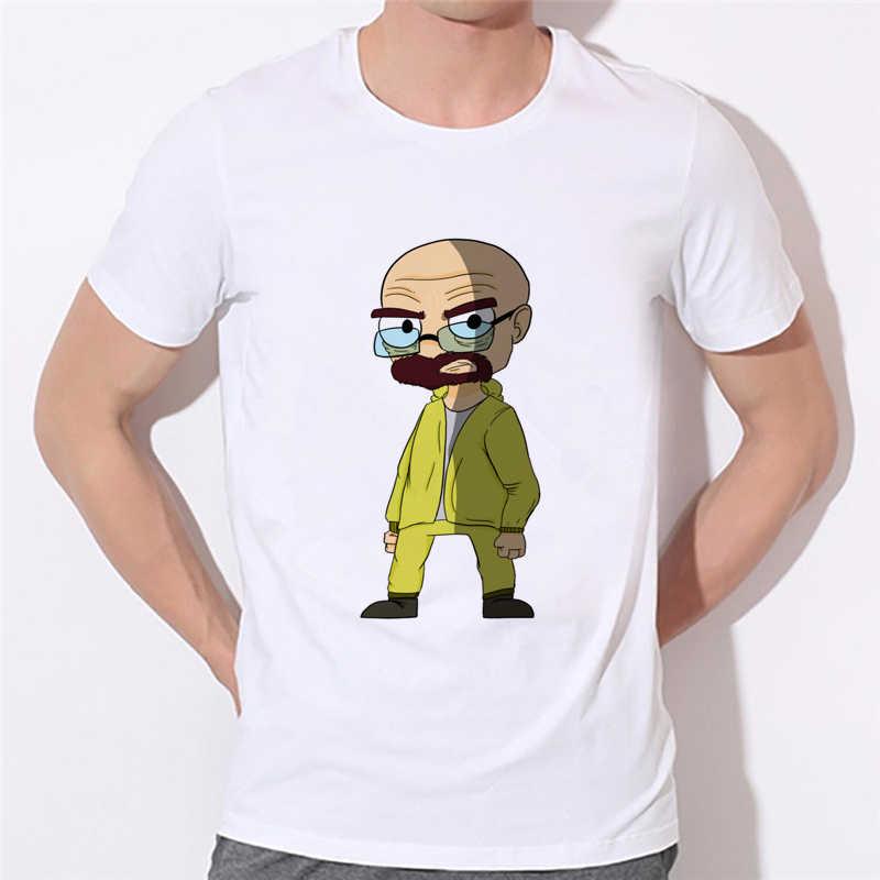 Quebrando o homem engraçado t-shirts do homem das camisas más t dos homens o pescoço ocasional tshirt eua tamanho partes superiores tomadas de fábrica podem ser personalizadas 43n-8 #