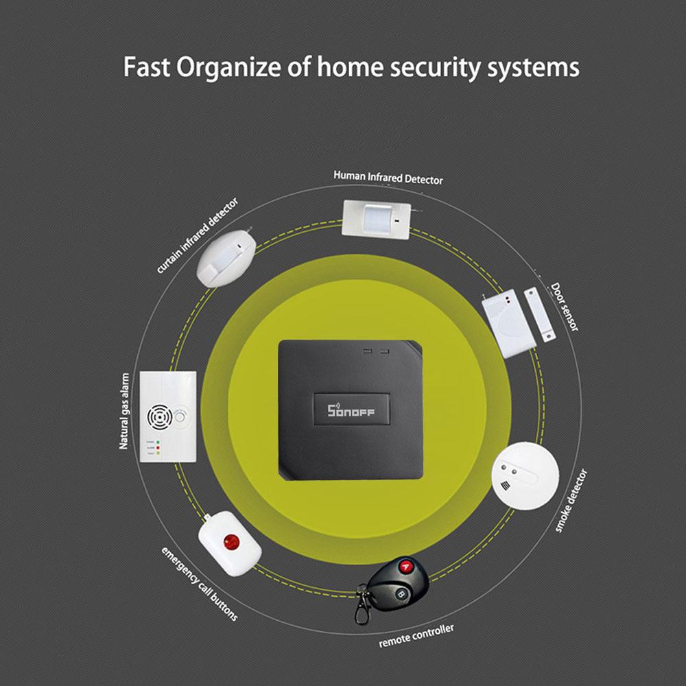 lowest price Sonoff RF Bridge 433MHZ Wifi Wireless  PIR Sensor Door  amp  Window Alarm Sensor for Smart Home Security Alexa Google Home