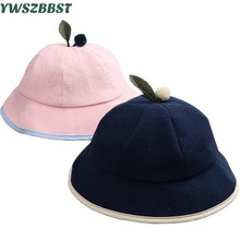 New Fashion Autumn Baby Hats Toddler Hat Girl Leisure Topper Cotton Linen Beach Cap Outdoor Sunshade Bucket