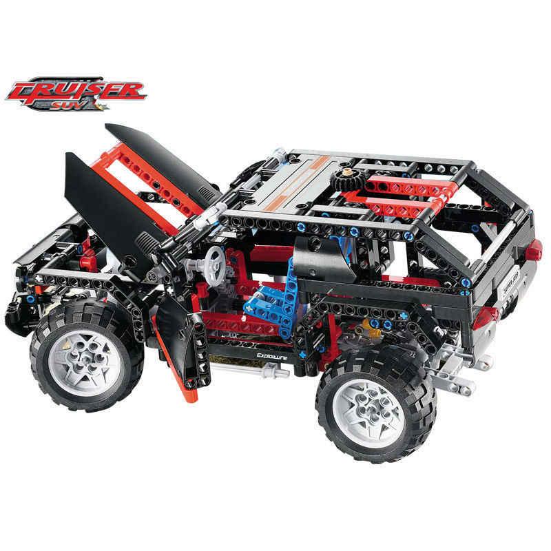 2019 MOC Compatibile con legoinglys 8081 Technic Motore Estremo Cruiser SUV 589pcs Modello di Auto Da Corsa Building Block Giocattoli Di Natale