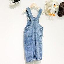 WLG Девочки Мальчики Весна Осень Комбинезоны детские джинсовые синие повседневные Комбинезоны Детская Повседневная универсальная одежда для детей