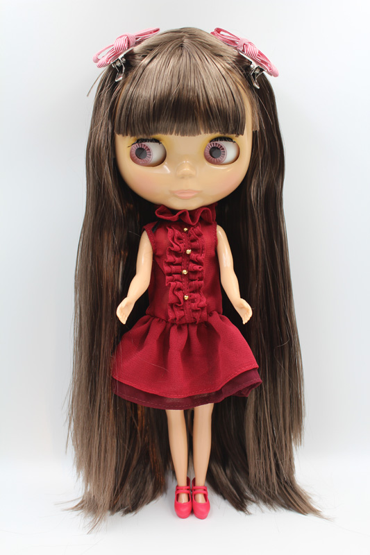 Free Shipping big discount RBL-330 DIY Nude Blyth doll birthday gift for girl 4colour big eye doll with beautiful Hair cute toy free shipping top discount joint diy nude blyth doll item no 208j doll limited gift special price cheap offer toy usa for girl