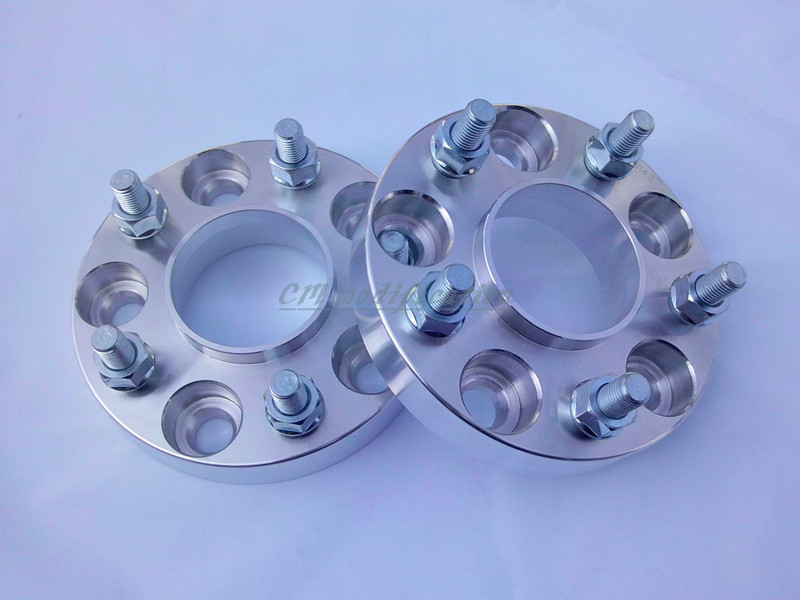 A pair of (2), 5 x4 5 (114.3 mm), hole is 71.6 mm, wheel adapters, spacers, applicable to small jeep Cherokee,  KaiLing 2 a pair of 6 x 5 5 139 7 mm the hole is 108 mm the wheel adapters spacers suitable for toyota rand cool luze 80 series