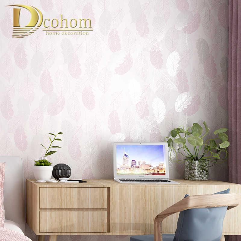 Hijau, Cream Putih pink Vintage Retro Tropis Daun Wallpaper untuk Dinding Kamar Tidur Living Room Latar Belakang Dinding Kertas Roll Dekorasi Rumah