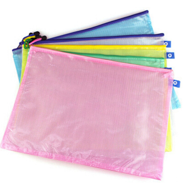 10pcs Lot Doent File Bag Holder Storage Case Cosmetic Makeup Student Stationery School Supplies