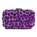 6 Coolors Exquisite Crystal Clutch Bag Royal Blue Evening Bag  Diamond Wedding Party Hand Bag Chain Shoulder Bag Purse Wallet