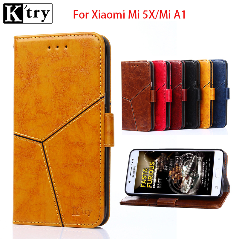 Luxury Wallet Leather Case For Xiaomi Mi 5X/Mi A1 Flip Case Magnetic Slim Book Protective Shell Cover