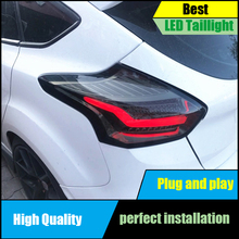 Car Styling Tail Llight For Ford Focus 2 Hatchback 2015 2016 2017 Taillights LED Taillight Rear Lamp Brake+Reversing+Signal